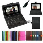 7 8 9 9.7 10 10.1 Micro USB Keyboard PU Leather Android Tablet Case Cover