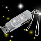 Hot crystal sliver key chains model usb 2.0 memory stick pen thumb drive