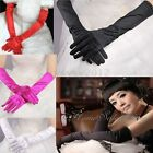 Ladies Long Satin Gloves Opera Costume Bridal Party Wedding Prom Women Glove