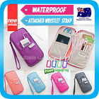 Travel Wallet Passport Holder Card Coin Pouch Bag phone Case Wristlet Strap+Tag