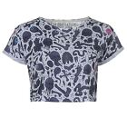 Jilted Generation Womens Over Print Slouch Top Ladies Round Neck Short Sleeves