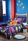 NEW Boys Outer Space Rocket Single Duvet Quilt Cover Set, Blue Bedroom