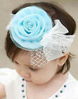 Baby Girls Infant Toddler Kids Headband Bow Flower Hair Band Princess Headwear