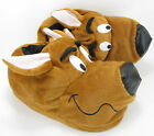 Mens Warm Novelty Funny Brown Scooby Dog Winter Slippers Cosy UK Sizes 7 to 12