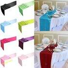 TOP QUALITY silk-like satin table runner decoration for wedding party banquet