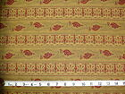 COLLECTION FOR A CAUSE - BEIGE PAISLEY STRIPE 100% cotton patchwork fabric