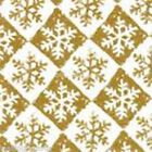 Snowflake Check Gold Tissue Paper 500mm x 750mm Multi Listing