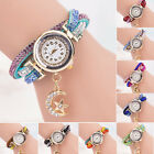 Women Crystal Wrist Watch Band Wave Bracelet Dial Quartz Analog Wrap Watch Cheap
