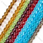 1str 8mm Crystal Glass Round Faceted Loose Beads Jewelry Charms Findings DIY New
