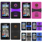 For Microsoft Nokia Lumia 435 Impact Arch Stand Hybrid Hard Cover Case Protector