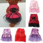 Cute Pet Dog Bow Princess Lace Wedding Party Dress Skirt Puppy Clothes Apparel