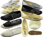 Womens Espadrille Sparkle Shine Sequin Casual Flat Slip On Fashion Chic Shoes