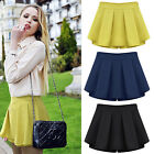 2015 New Ladies Womens Wrap Mini Short Skirt Chiffon Laminated Skirts S M L XL