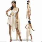 CL455 Fever Goddess Greek Roman Toga Womens Cleopatra Fancy Dress Party Costume