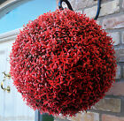 Best Artificial Red Rosemary Lush Christmas Topiary Flower Ball Hanging Basket
