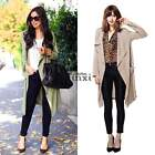 2015 Women Spring Summer Long Trench Coat Outerwear Casual Overcoat Blazer TXCL