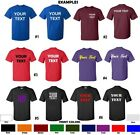 CUSTOM T-Shirt Personalized ANY COLOR Your Text Name Print Customized CLASSIC