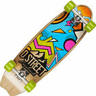 "NEW D STREET STUBBY BAYSIDE 29"" CRUISER COMPLETE SKATEBOARD MULTI COLOR"