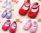 Toddler Girl Infant Lace Flower Party Soft Prewalkers Baby Crib First Shoes Cack