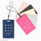 Wannabe Travel Picto Tag Name Tag Carrier Bag Luggage ID Strap Card Cute Pocket