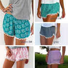 Womens Casual Printing Hawaiian Beach Board Swimming Summer Hot Pants Shorts