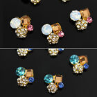 10x 3D Rhinestones Crystal Beads Alloy Jewelry Nail Art Phone Glitter Decoration