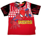 Boys THE AMAZING SPIDER-MAN cotton summer t-shirt Size S-XL Age 3-7y Free Ship