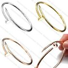 Fashion Korean Jewelry Silver Gold Nail Design Bangle Twisted Charm Bracelet NEW