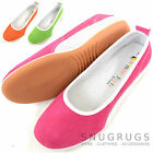 Ladies / Womens Leather / Suede Summer Slip On / Ballet / Pumps / Flats / Shoes