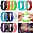 Ultra Thin Men Girl Sports Silicone Digital Red LED Sports Bracelet Wrist Watch