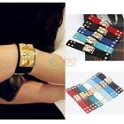 Women Man Metal Spike Rivet Studs Leather Bangle Cuff Wristband Bracelet Jewelry