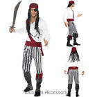 CL466 Pirate Man Swashbuckler Carribean Buccaneer Fancy Dress Costume