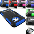 FOR SAMSUNG GALAXY PHONES RUGGED CASE PROTECTIVE COVER & BELT CLIP HOLSTER+FILM