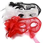 Chic Women Lace Flower Translucent Mask For Masquerade Ball Halloween Party - CB