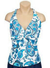 Ocean Dream Signature Underwire Twist Front Tankini Top Blue A199891