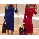 LA Sexy Lady OL Bodycon Dress LongSleeve Bandage Work Wear Colthes Dresses CA3M