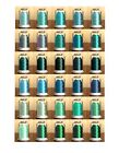 Hemingworth Machine Embroidery Thread- all Shades of Teal Green & Turquoise