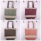 Eco-friendly Zakka Handbag Grocery Tote Storage Shopping Bag Polka Dots SNGW008
