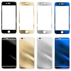New Electroplating Mirror Effect Tempered Glass Screen Protector Case For iPhone