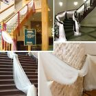 5/10M Sheer Organza Fabric Table Swags for Wedding Party Chair Bows Stair Decor