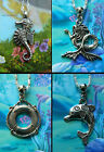 MERMAID DOLPHIN SEAHORSE SHARK FISH NECKLACE PENDANT CHARM TIBETAN SILVER SEA