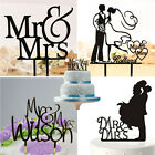 Romantic Couple Mr & Mrs Wedding Cake Topper Acrylic Cake Silhouette Party Decor