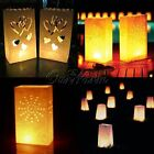 Tealight Luminaria Paper Lantern Candle Bag For BBQ Xmas Party Wedding 1-100pcs