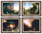 4 Framed Thomas Cole Voyage of Life Series Wall Art Set Christian Repro Canvas