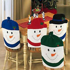 4 Colors Christmas Chair Back Cover Snowman Decorations Dinner Table Party Gifts