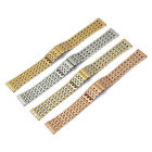 20mm Stainless Steel Wrist Watch Band Bracelet Strap Push Button Clasp Buckle