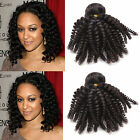 10''-30'' 3Bundles Afro Kinky Curly Black Brazilian Human Hair Extensions Wefts