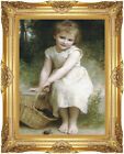 Framed Les Prunes Plums William Bouguereau Painting Reproduction Canvas Wall Art