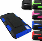 FOR HTC DESIRE PHONES  RUGGED ARMORED CASE COVER+CLIP HOLSTER+STYLUS