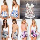 Women Ladies Lace Bodycon Floral Party Shorts Trouser Playsuit Jumpsuit&Romper